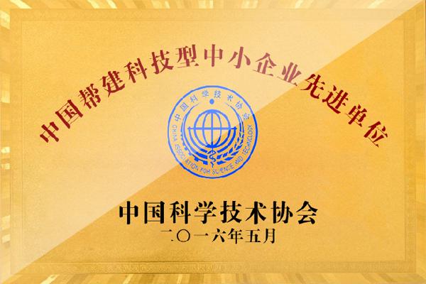 中国帮建科技型中小企业先进单位